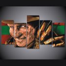 Freddy Krueger Nightmare on Elm Street 5pc Wall Decor Framed  Oil Painting Horror