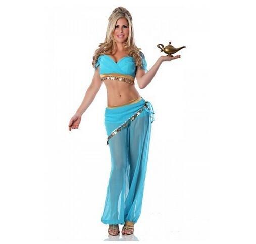 Adult Cosplay Aladdin Princess Jasmine Costume Dress