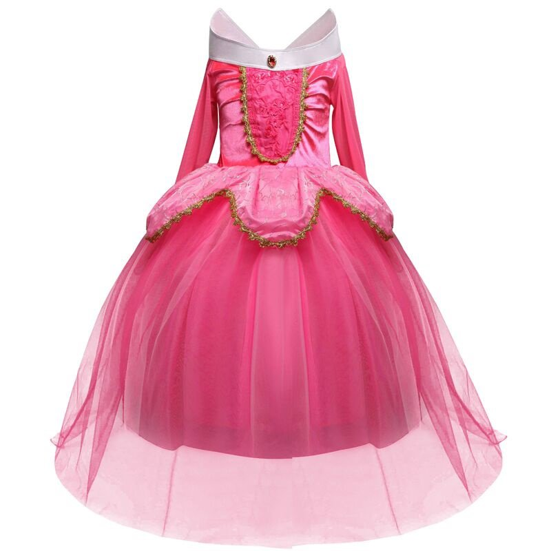 Fantasy Kids Sleeping Beauty Cosplay Costume Disney Princess Aurora Dress $3 Ship