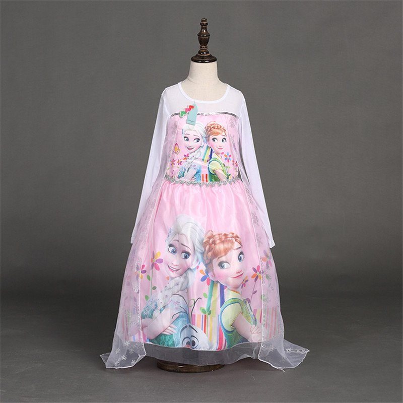 Elsa and Anna Frozen Dress Pink Kids 3T, 4T Dress Up Limited Quanity