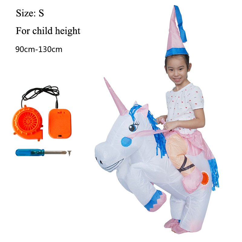 Unicorn Princess Inflatable Child Boys Girls Children Costume Fun Carnival Halloween Costume