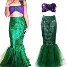 Little Mermaid Adult Costume Cosplay Ladies Sea Princess Women Disney  Halloween Costume $1 SHIP