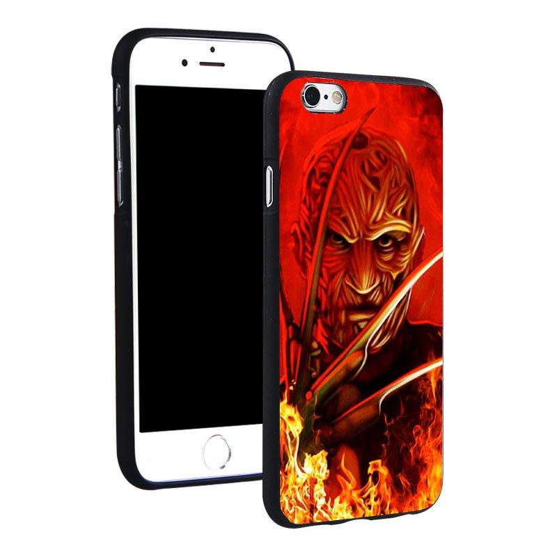 Freddy Krueger Horror film Silicone Phone Case : iPhone 4 4S 5C 5 SE 5S 6 6S 7 Plus