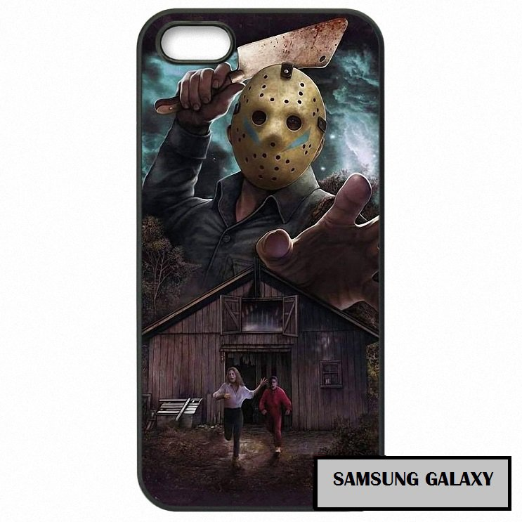 Jason Vorhees Scary Friday 13th Phone Case Samsung Horror  2 3 4 5 7 S S2 S3 S4 S5 S6 S7 edge