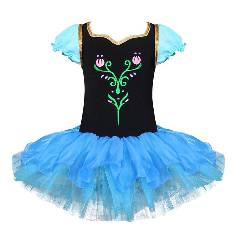 Princess Anna Ballet Dance Tutu Dress Girls Party Costume 3T-8