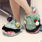 Zombie Eye Popping Plush Slippers Horror Film Movie apparel Unisex