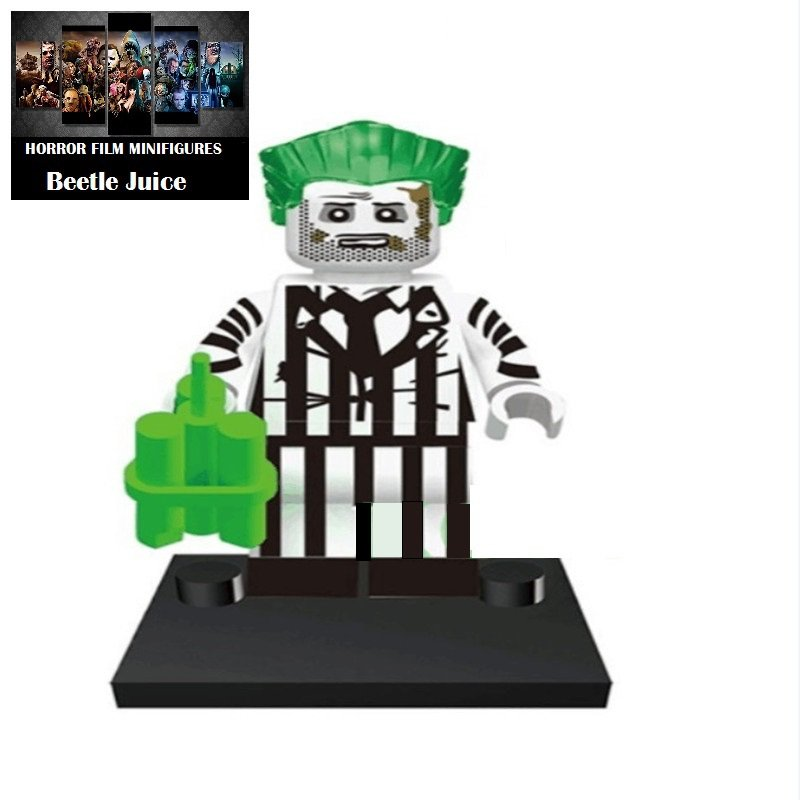 Beetle Juice Horror Film Movie Character Lego Minifigure Mini Figure Free shipping offer
