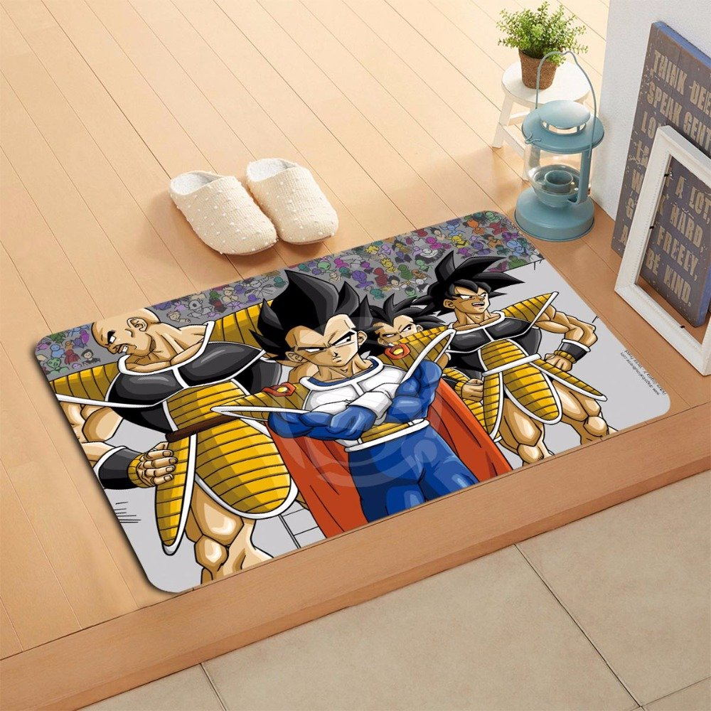 Dragon Ball Z Characters Cartoon Door Mat Home Decor