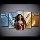 Wonder Woman Movie Superhero Canvas HD Wall Decor 5PC Framed oil Painting Art