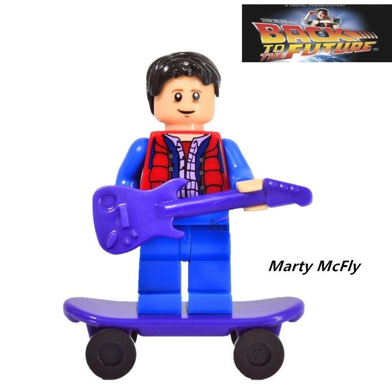 Marty McFly Back to the future Character Minifigure Mini Figure for Legos