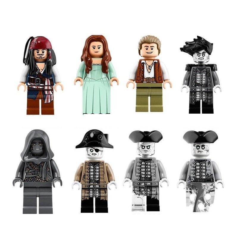 Pirates of the Caribbean Dead Men Tell No Tales Lesaro 8pc Mini Figures Lego Minifigures