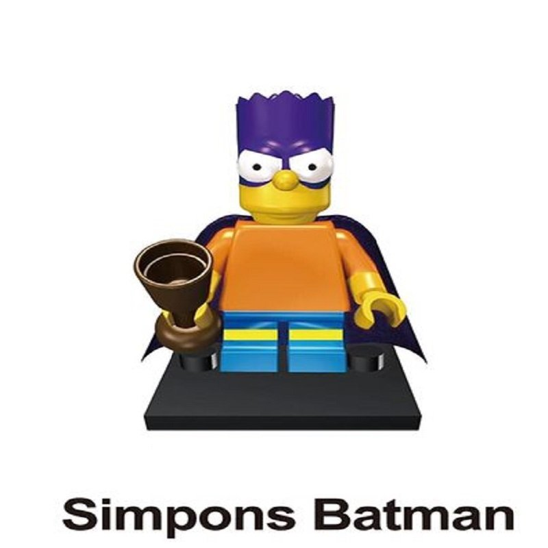 Batman Bart Simpson Cartoon Character Minifigure Lego Mini Figure for Legos