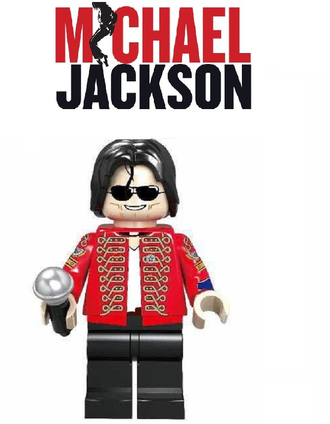 Michael Jackson Singer Hollywood Minifigure Lego Mini Figure SPECIAL EDITION