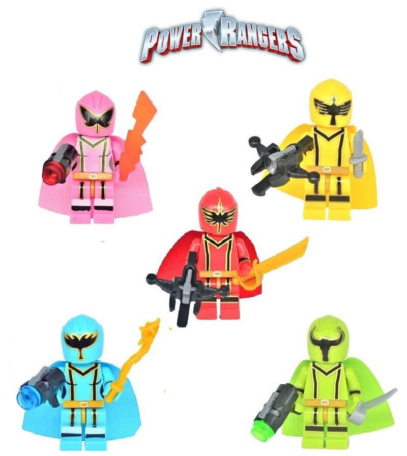 New Power Rangers 5pc Character Minifigure Lego Mini Figure Build block set