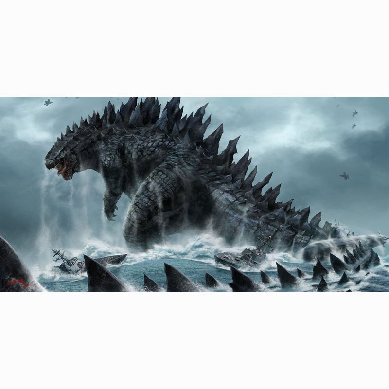 "Godzilla Beach Bath Towel New Arrival 55""x 28"" Horror Film Hollywood"