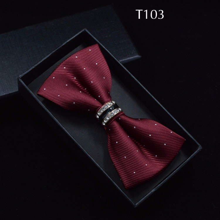 Tuxedo Bow tie Red carpet crystal accent butterfly knot Men suit accessory 103