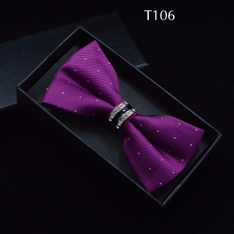 Tuxedo Bow tie Red carpet crystal accent butterfly knot Men suit accessory 106
