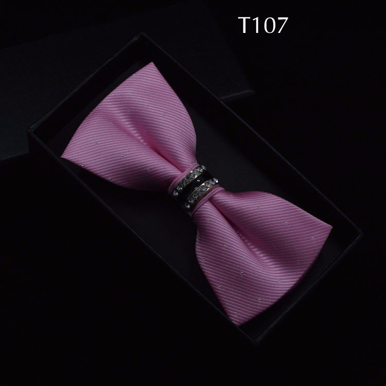 Tuxedo Bow tie Red carpet crystal accent butterfly knot Men suit accessory 107