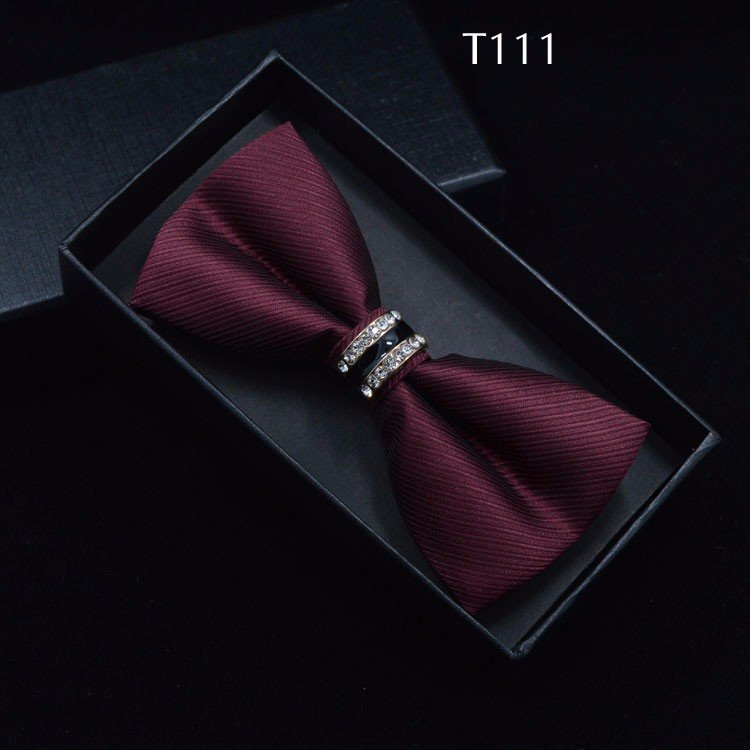 Tuxedo Bow tie Red carpet crystal accent butterfly knot Men suit accessory 111