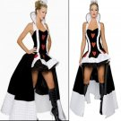 Queen of Hearts Sexy Women Adult Ladies Halloween Costume Dress