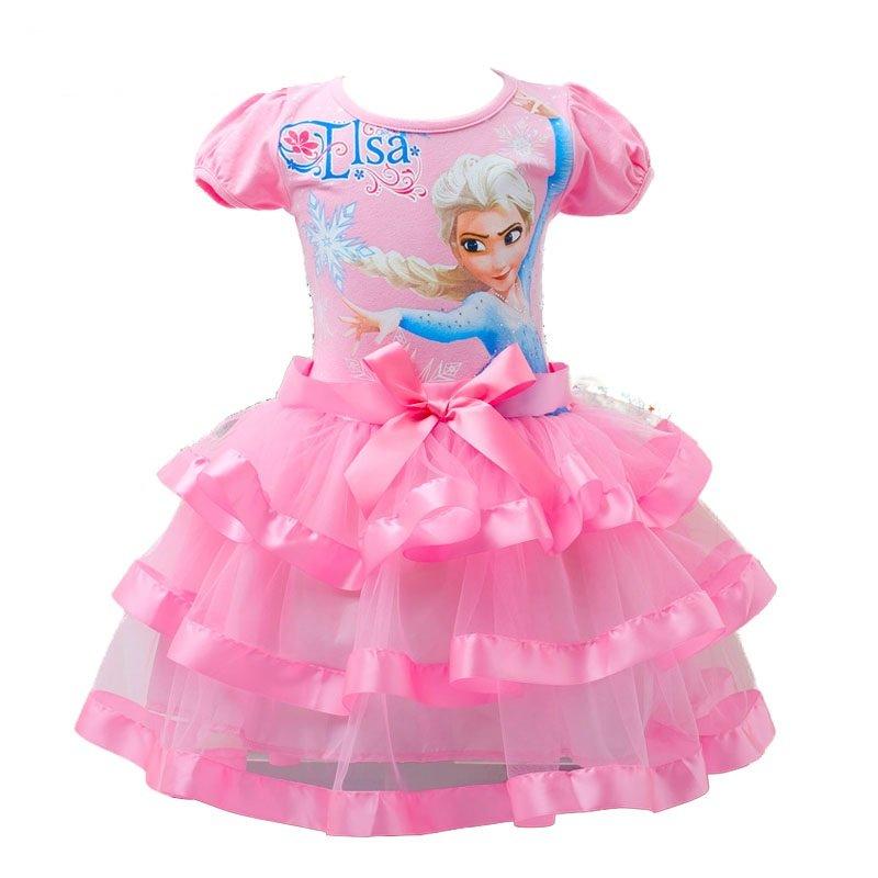Baby Girl Elsa Frozen Elsa Dress Pink Kids 18M. 2T, 3T, 4T, 5, 6, 7,8