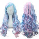 Hollywood Pop Star Cotton Candy Color Wig Costume Accessory Adjustable Cap- Halloween