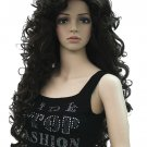 Full Body Dark Brown Curly Wig Hollywood Costume Accessory Adjustable Cap- Halloween Wig