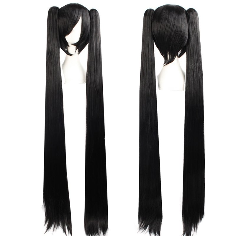 Cosplay Extra Long Black Anime costume Accessory Female HALLOWEEN