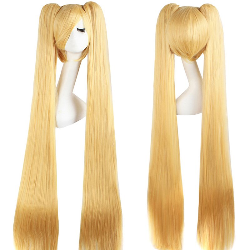 Cosplay Extra Long Blonde Anime costume Accessory Female HALLOWEEN