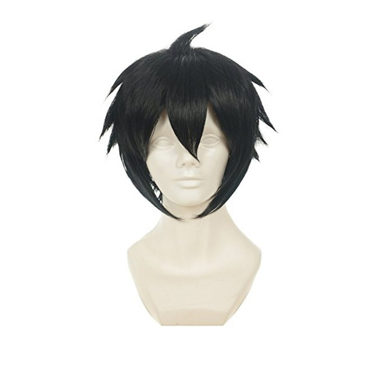 Anime Cosplay Costume Wig Character Synthetic Black Hair Wig