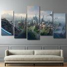 Star Wars Movie Scene 5pc Wall Decor Framed Oil Painting HD art