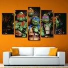 Teenage Mutant Ninja Turtles Movie Framed 5pc Oil Painting Art HD Wall Decor