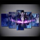 The Dark Knight Joker Movie Printed 5 Pcd Wall Art HD Canvas Painting Superhero Villain