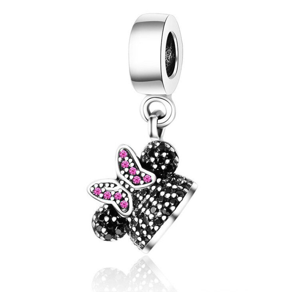 Minnie Mouse Ears Pendant Charm for Pandora Bracelet $2 SHIPPING