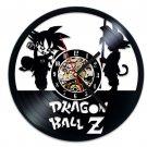 Dragon Ball Z vinyl record theme wall clock Vintage Decor Character theme Goku Vegeta