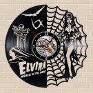 Elvira Mistress of the dark vinyl record theme wall clock Vintage Decor Horror