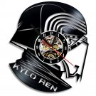 Star Wars Kylo Ren vinyl record theme wall clock Vintage Decor