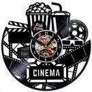 Hollywood cinema Movie theater vinyl record theme wall clock Vintage Decor