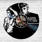 Justin Bieber vinyl record theme wall clock Vintage Decor Music Artist
