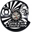 Green Lantern Superhero vinyl record theme wall clock Vintage Decor Room Decor