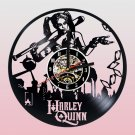 Harley Quinn vinyl record theme wall clock Vintage Decor Room Decor