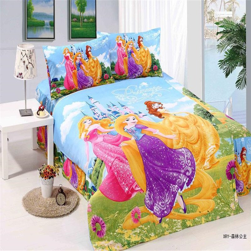Disney Aurora, Rapunzel and Belle Princess Design Bedding Cover Set NEW - Twin\