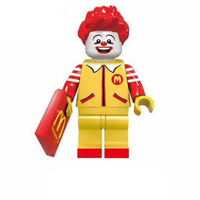 Ronald McDonald  Minifigure Mini Figure for LEGO