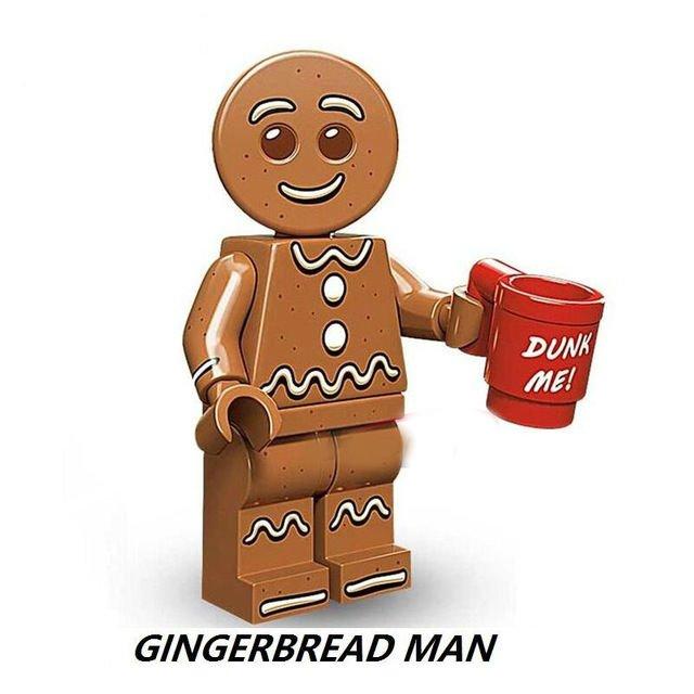 Gingerbread Man Cute  Minifigure Mini Figure for LEGO