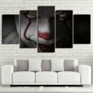 Pennywise IT Clown Evil Horror Canvas HD Wall Decor 5PC Framed oil Painting Decor