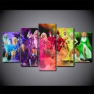 RuPaul's Drag Race Season 9 Queens Canvas HD Wall Decor 5PC Framed oil Painting