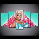 RuPaul's Drag Race Glamour Rupaul Canvas HD Wall Decor 5PC Framed oil Painting