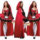 Little Red Riding Hood Sexy Women Adult Ladies Halloween Costume Dress