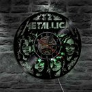 Metallica Rock band vintage vinyl record theme wall clock Music Artist Home Decor with LED Lights