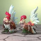 PORCELAIN ROOSTER SET
